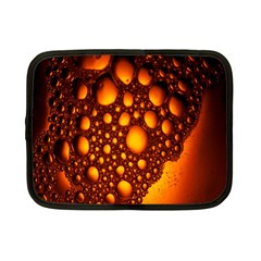 Bubbles Abstract Art Gold Golden Netbook Case (small)  by Simbadda