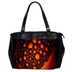 Bubbles Abstract Art Gold Golden Office Handbags by Simbadda