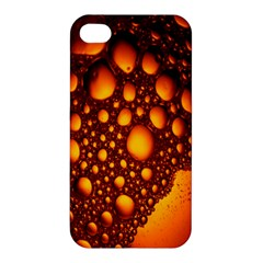 Bubbles Abstract Art Gold Golden Apple Iphone 4/4s Hardshell Case by Simbadda