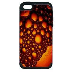 Bubbles Abstract Art Gold Golden Apple Iphone 5 Hardshell Case (pc+silicone) by Simbadda