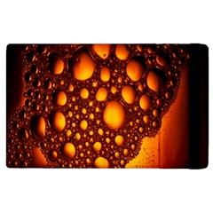 Bubbles Abstract Art Gold Golden Apple Ipad 2 Flip Case by Simbadda