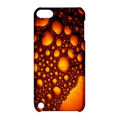 Bubbles Abstract Art Gold Golden Apple Ipod Touch 5 Hardshell Case With Stand by Simbadda