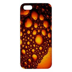 Bubbles Abstract Art Gold Golden Iphone 5s/ Se Premium Hardshell Case by Simbadda