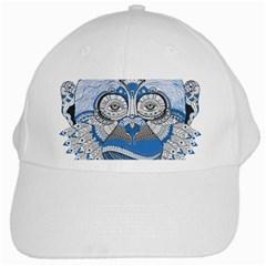 Pattern Monkey New Year S Eve White Cap by Simbadda