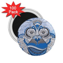 Pattern Monkey New Year S Eve 2 25  Magnets (100 Pack)  by Simbadda