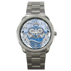 Pattern Monkey New Year S Eve Sport Metal Watch by Simbadda