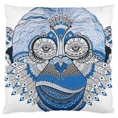 Pattern Monkey New Year S Eve Large Cushion Case (two Sides) by Simbadda