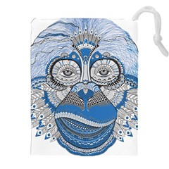 Pattern Monkey New Year S Eve Drawstring Pouches (xxl) by Simbadda