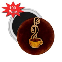 Coffee Drink Abstract 2 25  Magnets (100 Pack)  by Simbadda