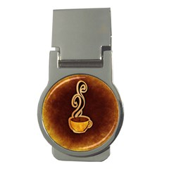 Coffee Drink Abstract Money Clips (round)  by Simbadda