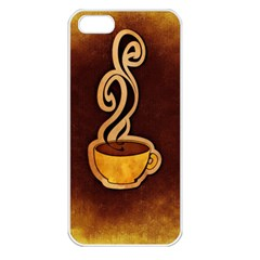 Coffee Drink Abstract Apple Iphone 5 Seamless Case (white) by Simbadda