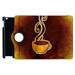 Coffee Drink Abstract Apple Ipad 3/4 Flip 360 Case by Simbadda