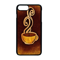 Coffee Drink Abstract Apple iPhone 7 Plus Seamless Case (Black) by Simbadda
