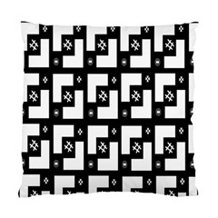 Abstract Pattern Background  Wallpaper In Black And White Shapes, Lines And Swirls Standard Cushion Case (one Side) by Simbadda