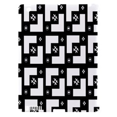 Abstract Pattern Background  Wallpaper In Black And White Shapes, Lines And Swirls Apple iPad 3/4 Hardshell Case (Compatible with Smart Cover)