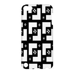 Abstract Pattern Background  Wallpaper In Black And White Shapes, Lines And Swirls Apple Ipod Touch 5 Hardshell Case by Simbadda
