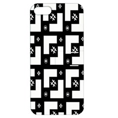 Abstract Pattern Background  Wallpaper In Black And White Shapes, Lines And Swirls Apple Iphone 5 Hardshell Case With Stand by Simbadda