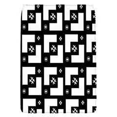 Abstract Pattern Background  Wallpaper In Black And White Shapes, Lines And Swirls Flap Covers (s)  by Simbadda