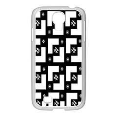 Abstract Pattern Background  Wallpaper In Black And White Shapes, Lines And Swirls Samsung Galaxy S4 I9500/ I9505 Case (white) by Simbadda