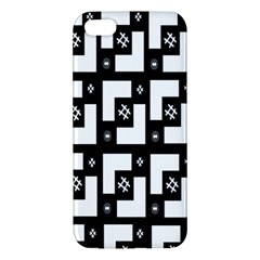 Abstract Pattern Background  Wallpaper In Black And White Shapes, Lines And Swirls Iphone 5s/ Se Premium Hardshell Case by Simbadda