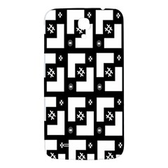 Abstract Pattern Background  Wallpaper In Black And White Shapes, Lines And Swirls Samsung Galaxy Mega I9200 Hardshell Back Case by Simbadda