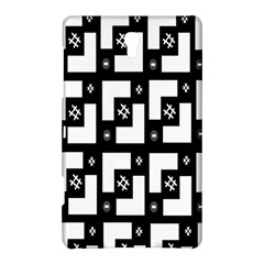 Abstract Pattern Background  Wallpaper In Black And White Shapes, Lines And Swirls Samsung Galaxy Tab S (8 4 ) Hardshell Case  by Simbadda