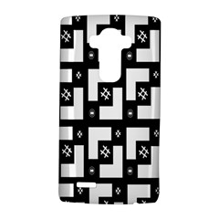 Abstract Pattern Background  Wallpaper In Black And White Shapes, Lines And Swirls Lg G4 Hardshell Case by Simbadda