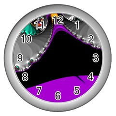 Fractal Background For Scrapbooking Or Other Wall Clocks (silver)  by Simbadda