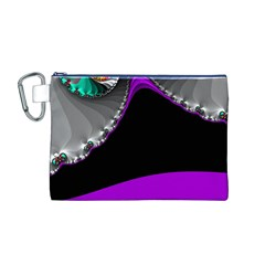 Fractal Background For Scrapbooking Or Other Canvas Cosmetic Bag (m)