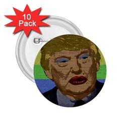 Donald Trump 2 25  Buttons (10 Pack)  by Valentinaart