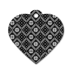 Folklore  Dog Tag Heart (one Side) by Valentinaart