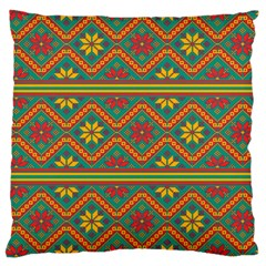 Folklore Large Cushion Case (one Side) by Valentinaart