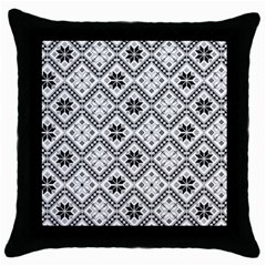 Folklore Throw Pillow Case (black) by Valentinaart