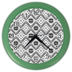 Folklore Color Wall Clocks by Valentinaart