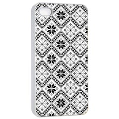 Folklore Apple Iphone 4/4s Seamless Case (white) by Valentinaart