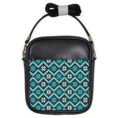 Folklore Girls Sling Bags by Valentinaart
