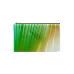 Folded Digitally Painted Abstract Paint Background Texture Cosmetic Bag (small)  by Simbadda