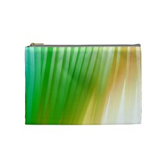 Folded Digitally Painted Abstract Paint Background Texture Cosmetic Bag (medium)  by Simbadda