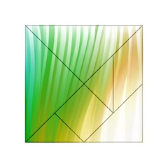 Folded Digitally Painted Abstract Paint Background Texture Acrylic Tangram Puzzle (4  X 4 ) by Simbadda