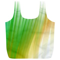 Folded Digitally Painted Abstract Paint Background Texture Full Print Recycle Bags (l)  by Simbadda