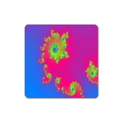 Digital Fractal Spiral Square Magnet by Simbadda
