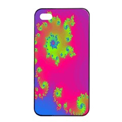 Digital Fractal Spiral Apple Iphone 4/4s Seamless Case (black) by Simbadda
