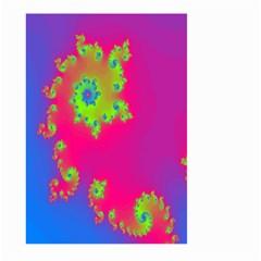 Digital Fractal Spiral Large Garden Flag (two Sides) by Simbadda