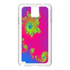 Digital Fractal Spiral Samsung Galaxy Note 3 N9005 Case (white) by Simbadda