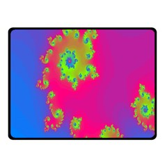 Digital Fractal Spiral Double Sided Fleece Blanket (small)  by Simbadda
