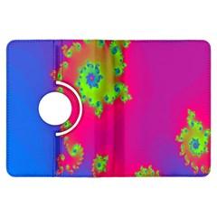 Digital Fractal Spiral Kindle Fire Hdx Flip 360 Case by Simbadda