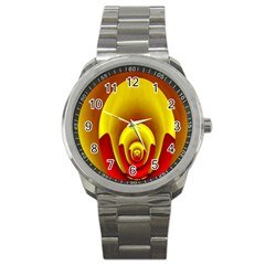 Red Gold Fractal Hypocycloid Sport Metal Watch by Simbadda