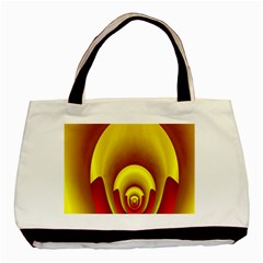 Red Gold Fractal Hypocycloid Basic Tote Bag (two Sides) by Simbadda