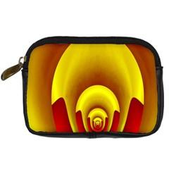 Red Gold Fractal Hypocycloid Digital Camera Cases by Simbadda