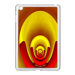 Red Gold Fractal Hypocycloid Apple Ipad Mini Case (white) by Simbadda